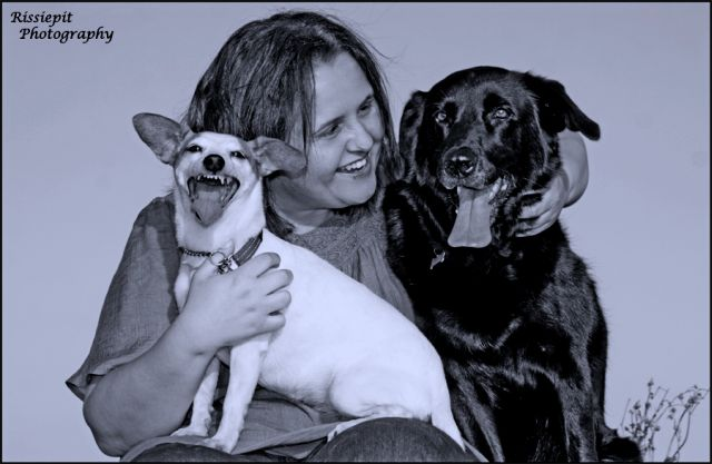 Tanja with Cleo and Tessa